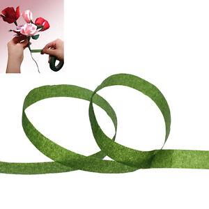 1 rouleau papier fleuriste floral souches wrap fleur artificielle ruban vert foncé 12mm  </span>
