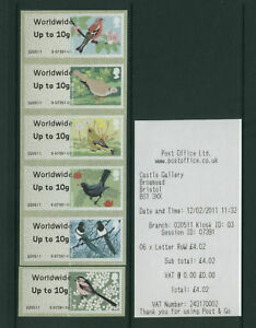 BIRDS-2-ERRORS-4mm-GAP-Post-amp-Go-K3-SET-OF-6-ww10g-SCARCE-SG-CAT-45-as-normals