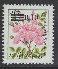 MALDIVE ISLANDS SG3460a 2001 10r on 7r SURCHARGE MNH