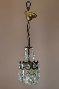 Details About Mini French Br Vintage Crystal Chandelier Antique Lighting Home Lights Lamp