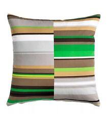3 Pc Ikea - Stockholm Pillow Cushion Cover -- Stripe: Gray, Brown, Green 20 x 20