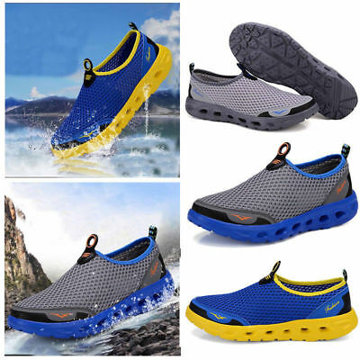 Casual Men Honeycomb Mesh Quick Drying Sport Sneakers Upstream Shoes Beach Shoes