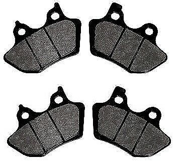 FRONT /& REAR BRAKE PAD SETS HARLEY 00-07 SOFTAIL TOURING DYNA SPORTSTER 44082-00