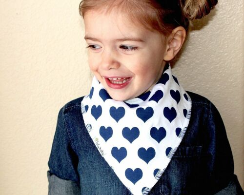 Adorable Baby Bandana Drool Bibs Cute Baby Shower Gift! Set of 4 For Girls