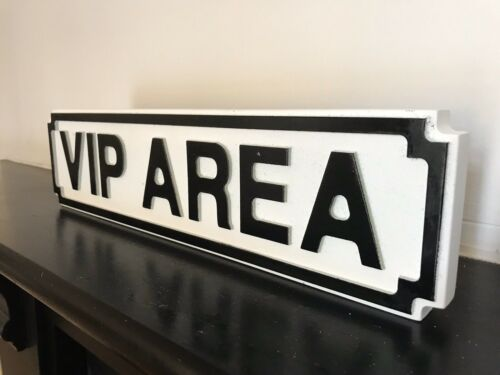 VIP Area Party Club Bar Shed Garden L40cm Hardwood Display Road Street Sign