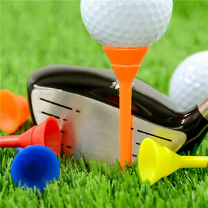Golf-Tees-Plastic-Cup-Tees-Unbreakable-83-mm-6-Colors-Practice-Ball-Holder-Long