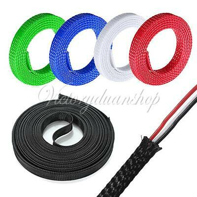 10 M High Density Expanding Matte Braided Braid Sleeving Cable Harness 5 Colors