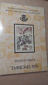1979-CARPETA-LIBRO-OFICIAL-DE-CORREOS-ESPANA-COMPLETO-OFERTA-UNICA-Y-ESPECIAL