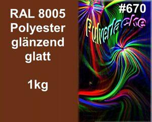 PULVERLACK 1kg Beschichtungspulver Pulverbeschichtung Lackierpulver RAL8005 Brau - 56288 Bubach, Deutschland - PULVERLACK 1kg Beschichtungspulver Pulverbeschichtung Lackierpulver RAL8005 Brau - 56288 Bubach, Deutschland
