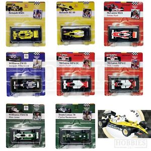 F1-Diecast-Car-Models-1-43-Scale-Hunt-Villeneuve-Prost-Lauda-McLaren-Williams