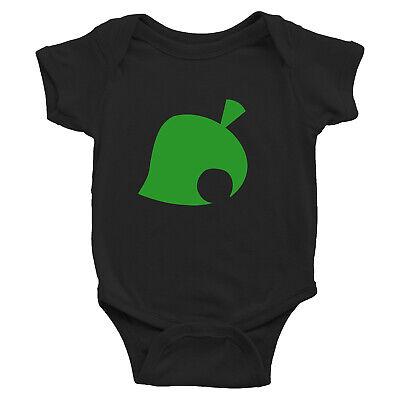 Animal Crossing New Leaf Symbol Logo Infant Baby Rib Bodysuit Newborn babysuit