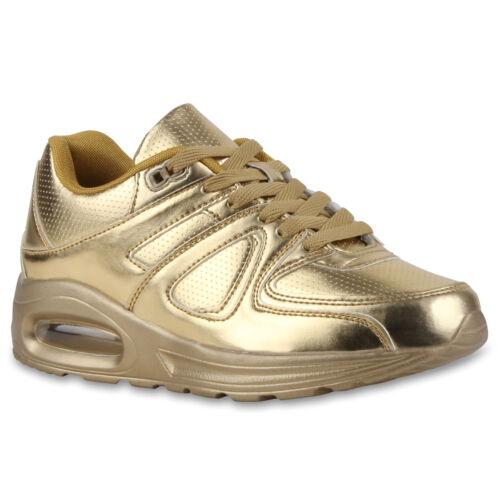 Damen Herren Kinder Sportschuhe Runners Sneakers Schnürer 77319 Gr.30-46 Trendy