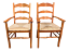 Pair-of-Ladder-Back-Arm-Chairs-Rush-Seats-in-Oak thumbnail 1