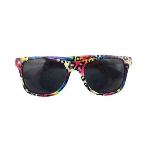 Brille Neon Leopardenmuster 80er Kostümzubehör Karneval Spaßbrille Verkleidung