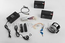 200 W 24 V electric motor kit w Control Thumb Throttle Charger Keylock Batteries