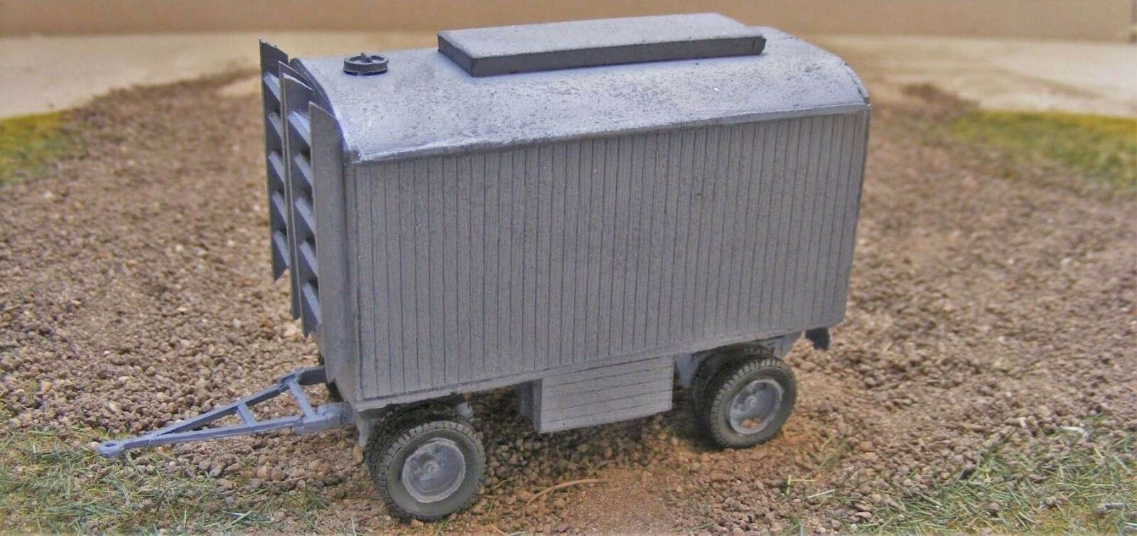 MGM 080-027 1 72 Resin WWII German 5T Trailer with Closed Construction