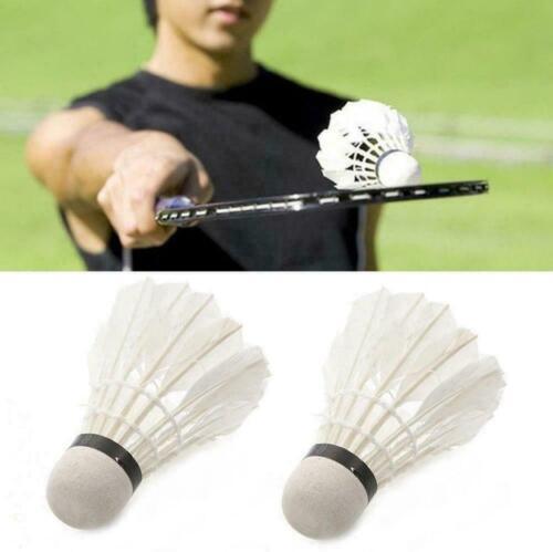 12 Stk Federbälle Badminton Naturfederball mit echten Federn Federball wei #@#j