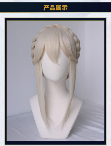 Details about  /Fate Grand//Order FGO Anime Light Gray Cosplay Bun Wig Hair Periwig 120CM