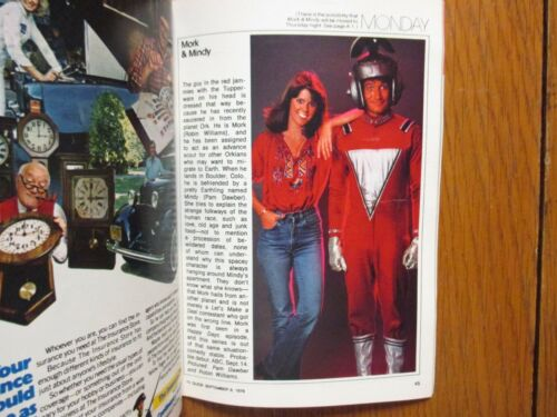 1978 TV Guide(FALL PREVIEW ISSUE/MORK & MINDY/BATTLE STAR GALACTICA/MARY/TAXI