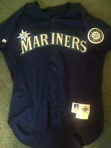 4bf28663d3977e Image is loading Seattle-Mariners-1997-Game-Worn-Spring-Training-Jersey-