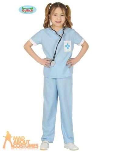 Kids Vet Costume Boys Girl Animal Hospital Pet Uniform Childs Fancy Dress Outfit