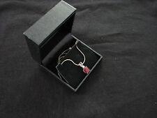 Oval facet Rhodolite Garnet pendant (3 ct ) on sterling silver snake chain