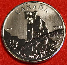 2012 CANADIAN COUGAR DESIGN 1oz .999% SILVER WILDLIFE SERIES COLLECTOR COIN GIFT