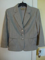 Womens Alex Marie Teak Button Front Jacket Size 8 Petite