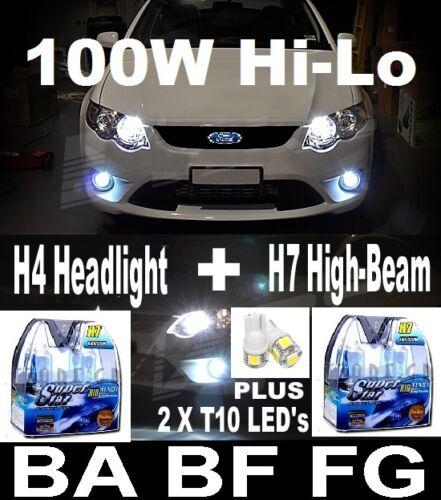 Xenon HID Look Replacement Lights Bulbs Globe FALCON BA BF FG XR6 XR8 G6E