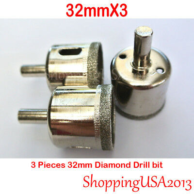 1PC 32mm Diamond Coated Drill Bit Set Hole Saw Cutter Tool Glass Marble Ceramic@