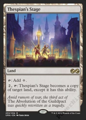 1 PLAYED Thespian/'s Stage Land uma Ultimate Masters Mtg Magic Rare 1x x1