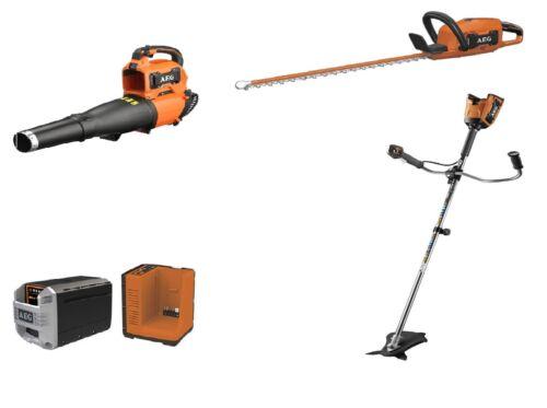 AEG Gartenset 50V Geräte 1x Heckenschere 1x Rasentrimmer 1x Laubsauger
