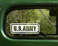 2 U.S. ARMY STICKERs US Military Pride Decal for Car Truck Bumper Window Laptop