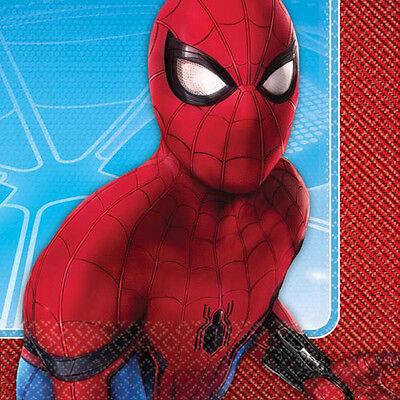 Spiderman Spider Hero Birthday Party Supplies Large Lunch Napkins