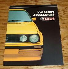 Original 1988 Volkswagen VW Sport Accessories Sales Brochure 88