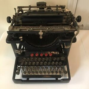 Antique Remington Standard No. 10 Typewriter Serial #RS01357 For Parts Repair