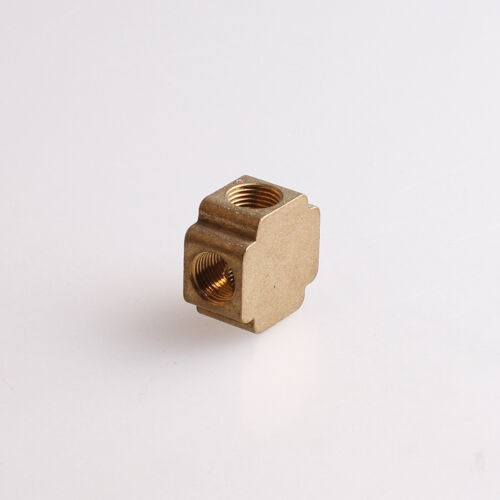 """10pcs 4 ways 1//8/"""" BSP Cross Female Connection Pipe Brass Coupler Adapter"""