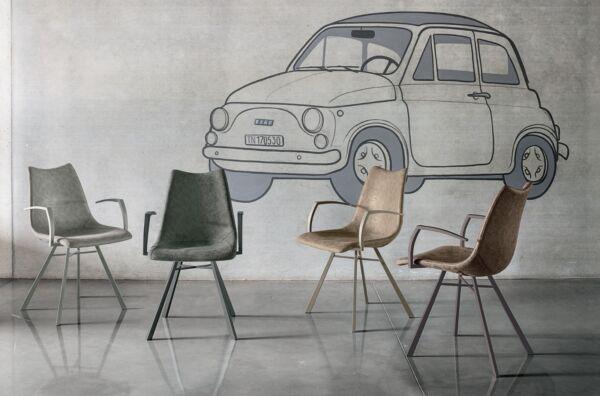 04 Poltroncine Imbottite Ecopelle Vintage Maiorca