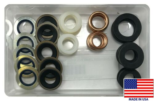 10 Sizes USA MADE 50 Oil Drain Plug /& Gasket Combination Assortment Kit