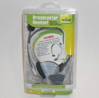 Dreamgear Broadcaster Gray Headband Headset With Microphone For Xbox 360
