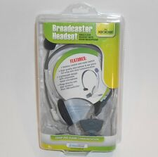 dreamGEAR Broadcaster Gray Headband Headset with Microphone for Xbox 360 NIB