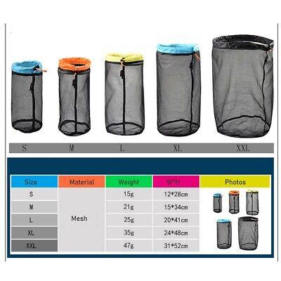 Camping Sports Ultralight Mesh Storage Bag Outdoor Stuff Sack Drawstring HOT