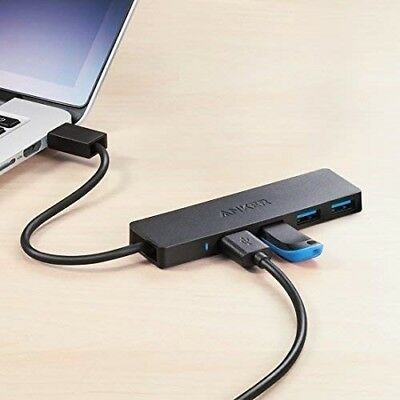 PC Anker 4-Port USB 3.0 Ultra Slim Data Hub for Mac USB Flash Drives and Other Devices