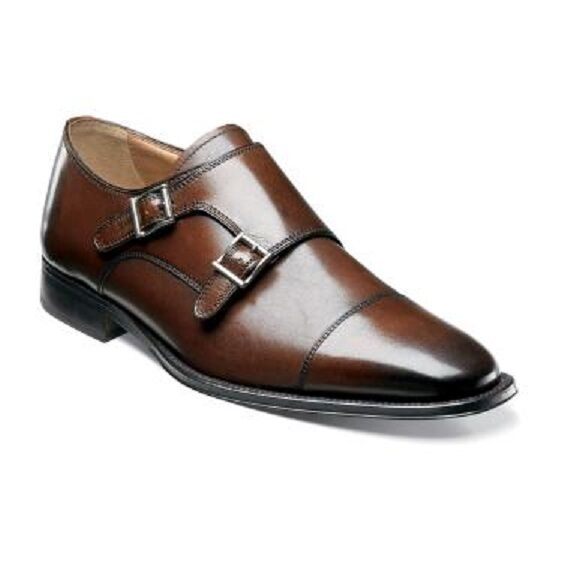 Florsheim Imperial Men's shoes Classico Monk Brown Calfskin Leather 12112-200