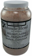 Muscle Blend All Natural Weight Loss Meal Replacement Shake Formula Strawberry