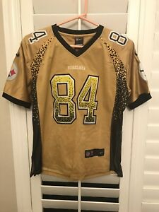 huge discount 8496f 8f411 Details about Nike Authentic On Field Pittsburg Steelers Antonio Brown  Jersey Women's Medium
