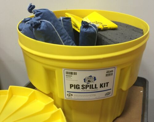 NEW PIG CORP 45305 Universal 20 Gallon Spill Kit With Container