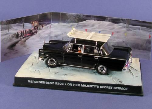 MERCEDES BENZ 220S W111 ON HER MAJESTY'S SECRET SERVICE 1 43 JAMES BOND 007
