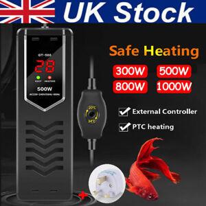 Submersible Fish Tank Aquarium Heater Thermostat Water Thermometer Controller UK