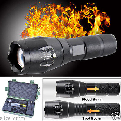 G700 5000LM Tactical Zoomable XML T6 LED Military Flashlight Torch Light Lamp US